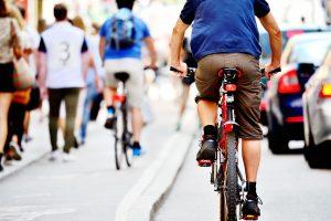 Bicyalist list in traffic